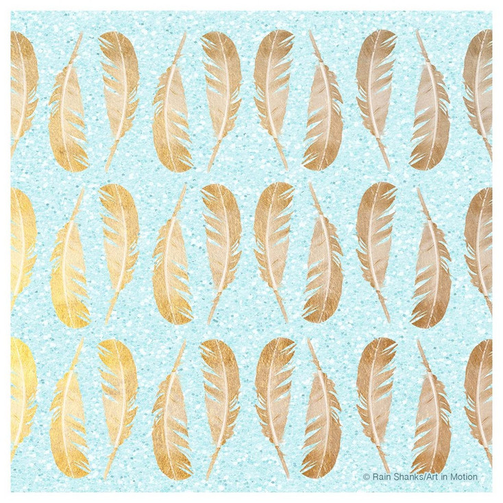 Glam Feathers Absorbent Beverage Coasters, Set of 12