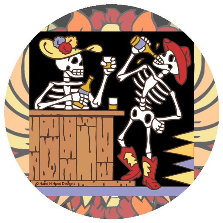 Cowboy Skeletons Beverage Coasters by Hand N Hand Designs, Set of 12