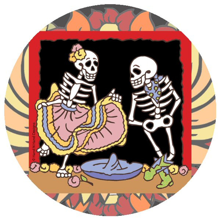 Mexican Hat Dance Skeletons Coasters by Hand N Hand Designs, Set of 12