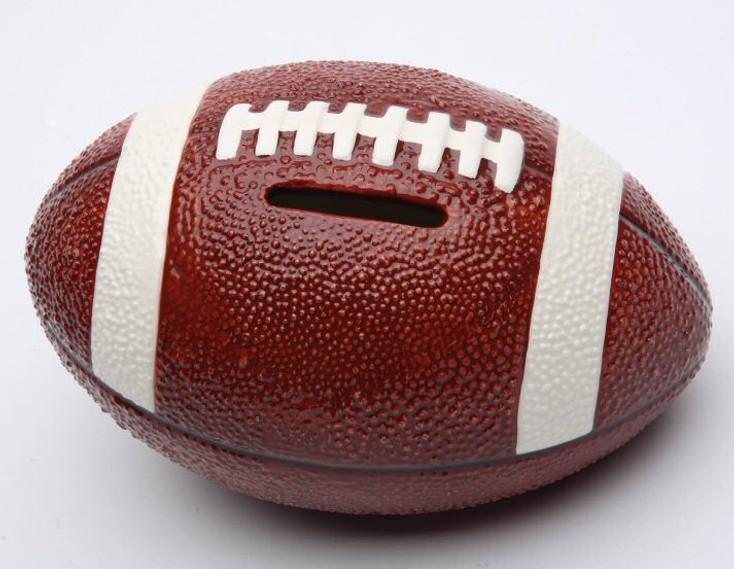 Football Porcelain Coin Bank