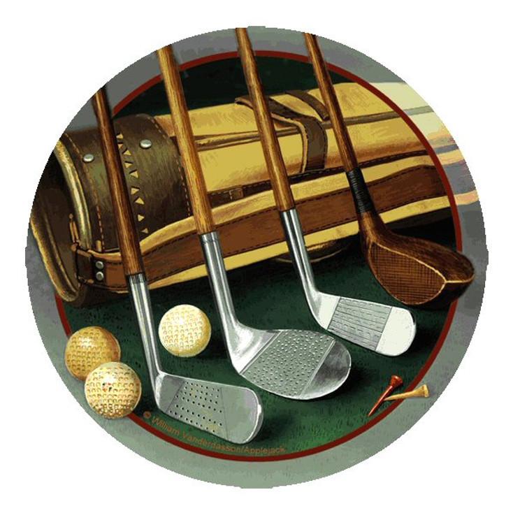 Club Line Up Golf Round Coasters by William Vanderdasson, Set of 8