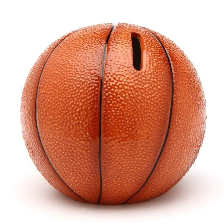 Basketball Porcelain Coin Bank