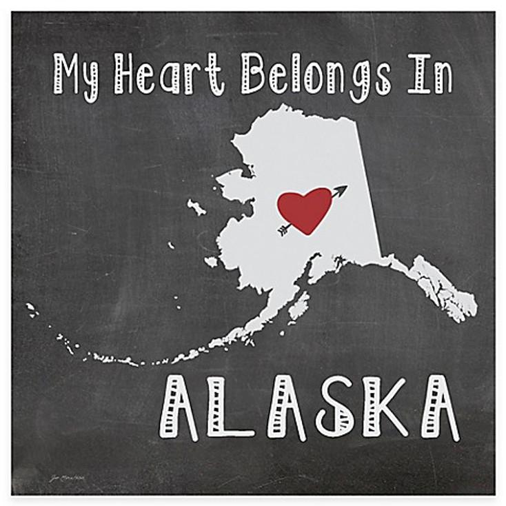 My Heart Belongs In Alaska Absorbent Beverage Coasters, Set of 8