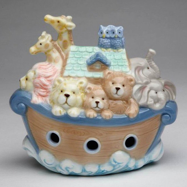 Noah's Ark Porcelain Coin Bank