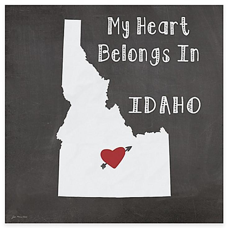 My Heart Belongs In Idaho Absorbent Beverage Coasters, Set of 8