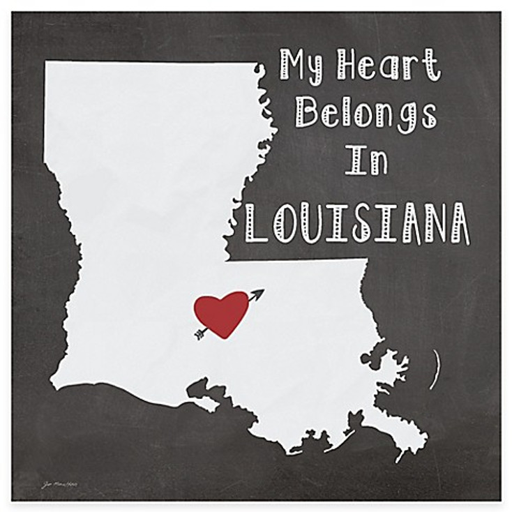 My Heart Belongs In Louisiana Absorbent Beverage Coasters, Set of 8