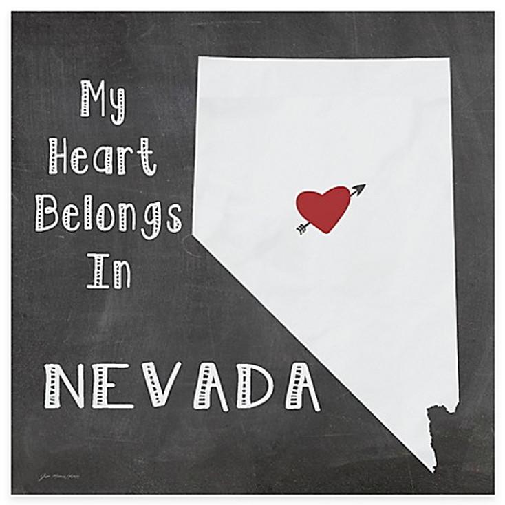 My Heart Belongs In Nevada Absorbent Beverage Coasters, Set of 8
