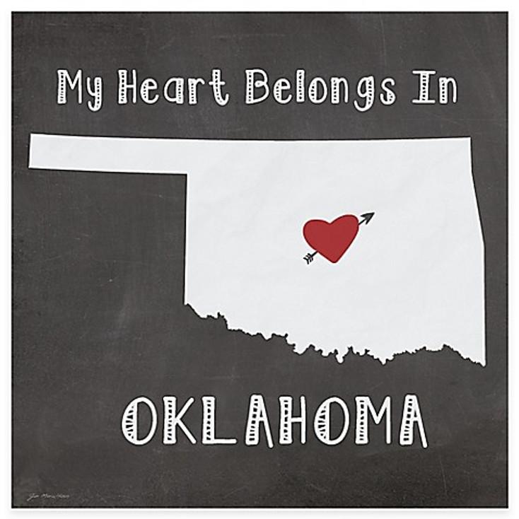 My Heart Belongs In Oklahoma Absorbent Beverage Coasters, Set of 8