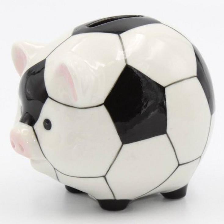 Soccer Ball Porcelain Piggy Bank