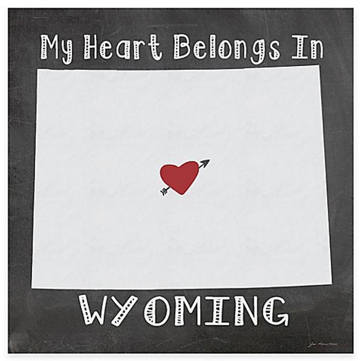 My Heart Belongs In Wyoming Absorbent Beverage Coasters, Set of 8