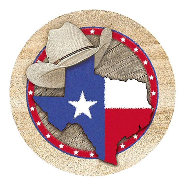 Texas Sandstone Round Beverage Coasters, Set of 8
