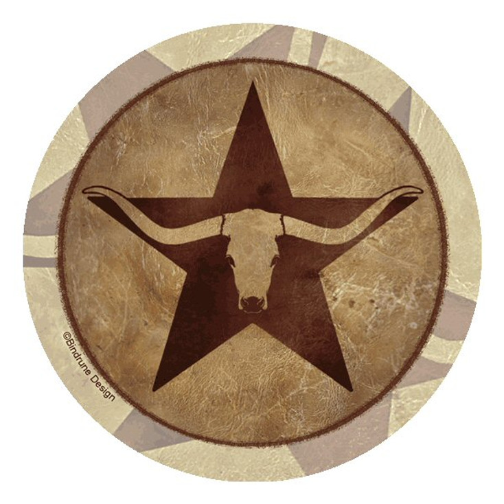 Texas Star Longhorn Beverage Coasters by Bindrune Design, Set of 12