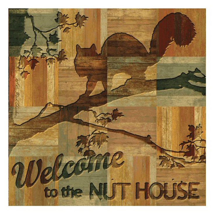Welcome to the Nut House Beverage Coasters by K Ward Thacker, Set of 8