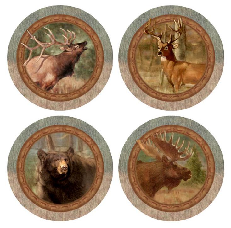 Wildlife Animals Quartet Beverage Coasters, Set of 8