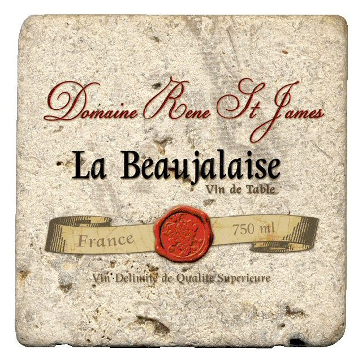 La Beaujalaise Beverage Coasters by Kate Ward Thacker, Set of 12