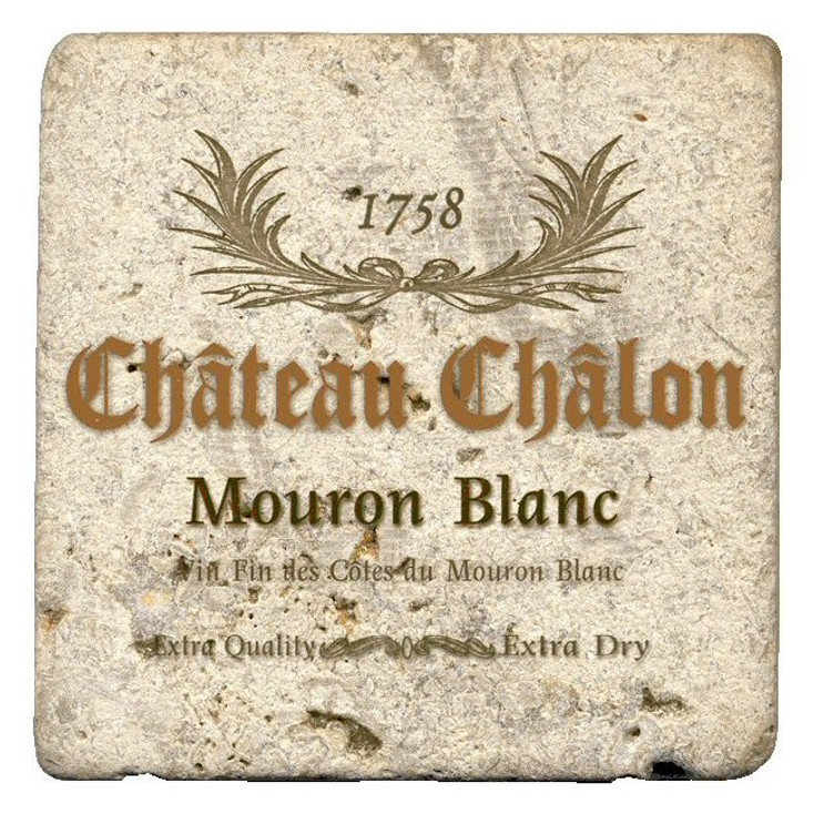 Mouron Blanc Beverage Coasters by Kate Ward Thacker, Set of 12