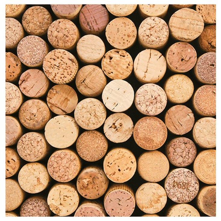 Wine Corks Absorbent Beverage Coasters, Set of 8
