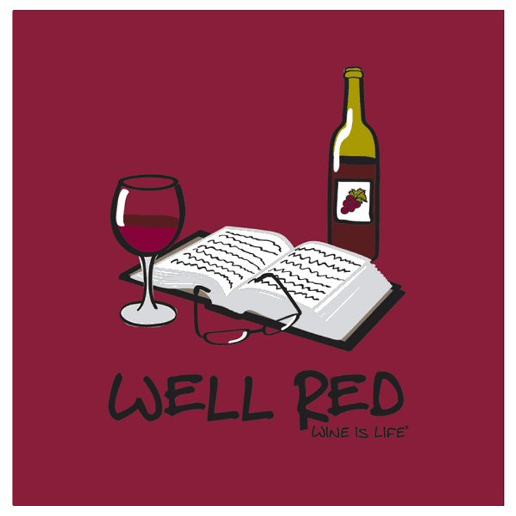 Well Red Absorbent Beverage Coasters by Wine is Life, Set of 12