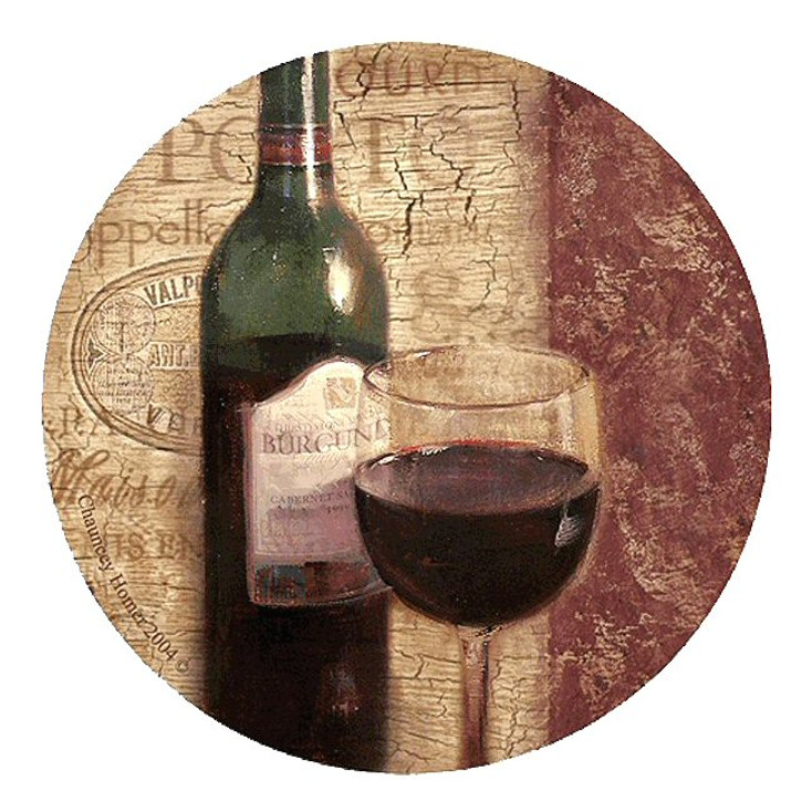 Classic Cabernet Sandstone Coasters by Chauncey Homer, Set of 8