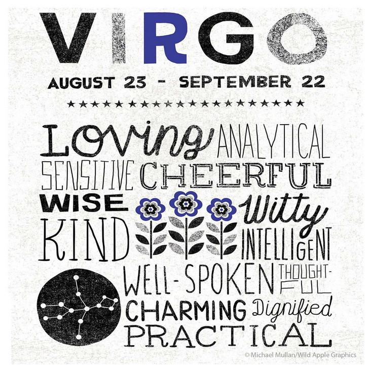 Virgo Zodiac Absorbent Beverage Coasters, Set of 12