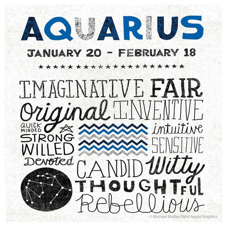 Aquarius Zodiac Absorbent Beverage Coasters, Set of 12