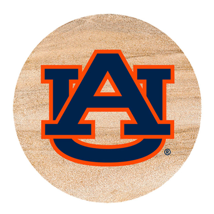 Auburn Tigers Sandstone Beverage Coasters, Set of 8
