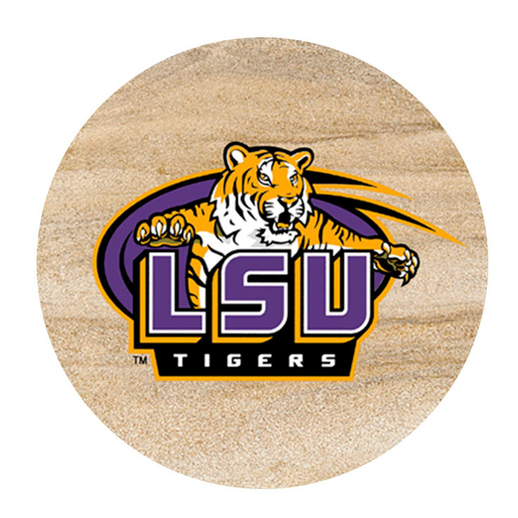 Louisiana State Tigers Sandstone Beverage Coasters, Set of 8