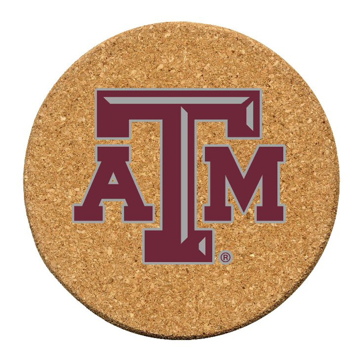 Texas A&M Aggies Cork Beverage Coasters, Set of 12