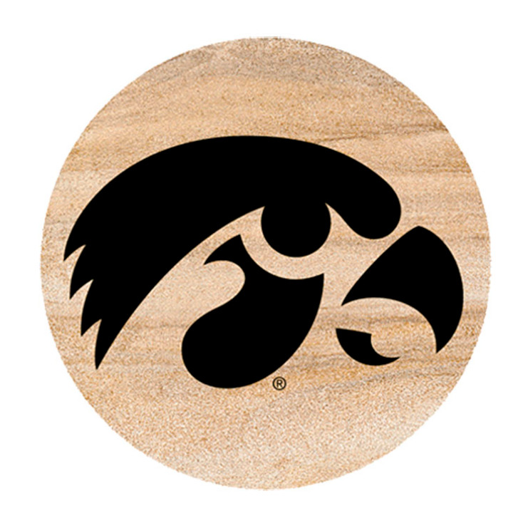 Iowa Hawkeyes Sandstone Beverage Coasters, Set of 8