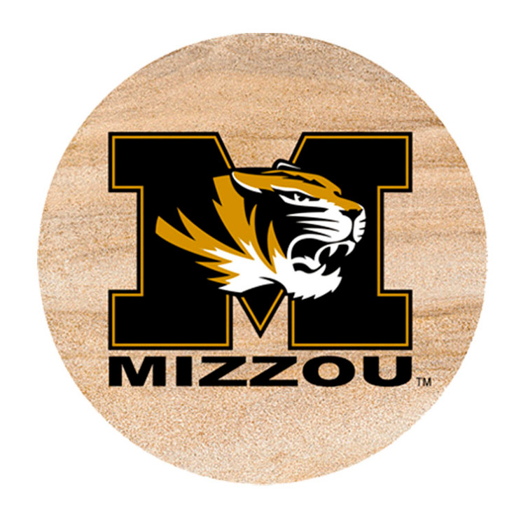 Missouri Tigers Sandstone Beverage Coasters, Set of 8