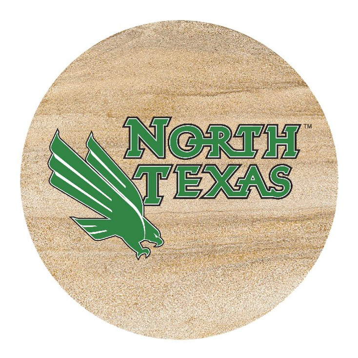 North Texas Mean Green Sandstone Beverage Coasters, Set of 8