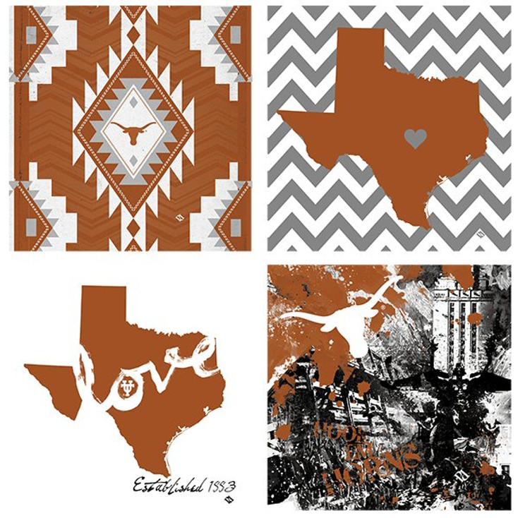 Texas Longhorns Spirit Beverage Coasters, Set of 8
