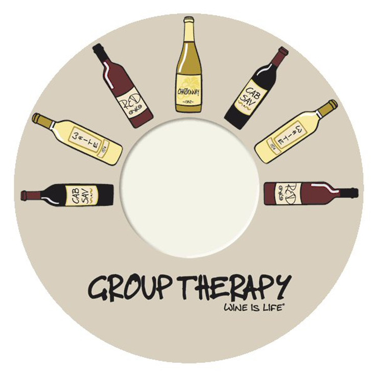 Group Therapy Wine is Life Wine Trivet, Set of 2