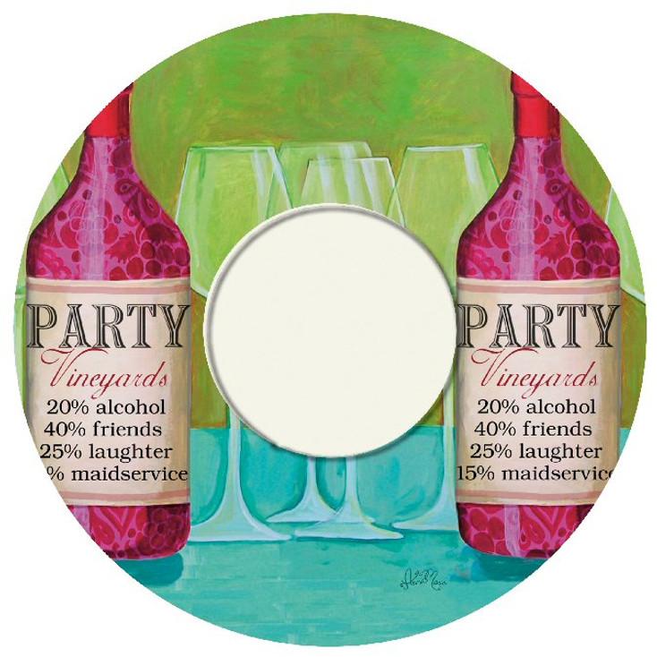 Party Vineyard Wine Trivet, Set of 2