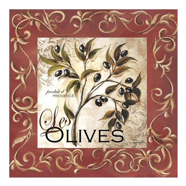 Olive Scroll Ceramic Trivet by Tre Sorelle Studios, Set of 2