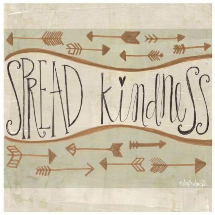 Spread Kindness Ceramic Trivets, Set of 2