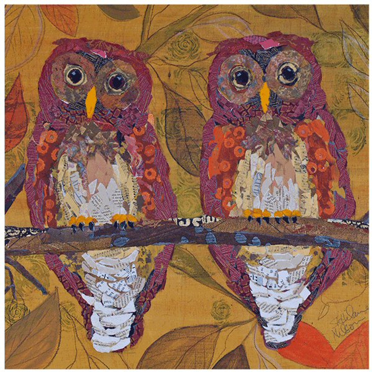 Hoo Hoo Owl Ceramic Trivets by Elizabeth St. Hilaire Nelson, Set of 2