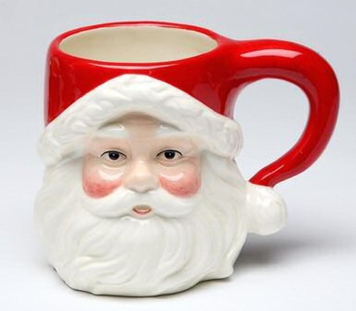 Jolly Santa Mugs, Set of 4