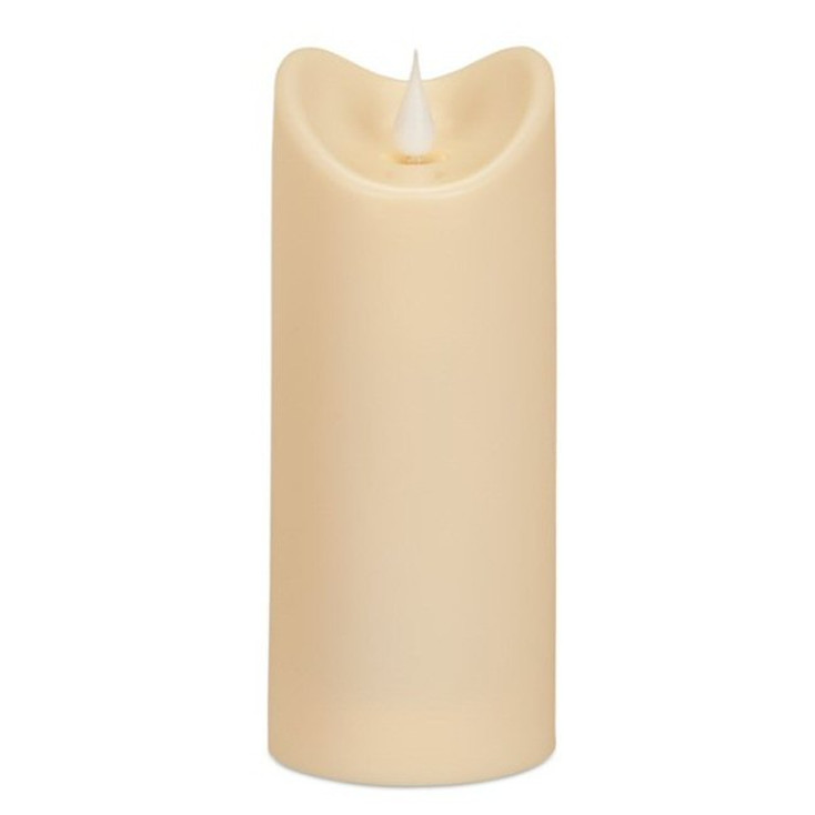 "2.75"" x 7"" Simplux LED Ivory Outdoor Candles w/ Moving Flame, Set of 2"