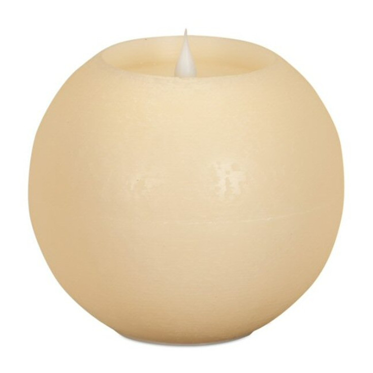 "6"" Simplux LED Ivory Round Candles with Moving Flame, Set of 2"