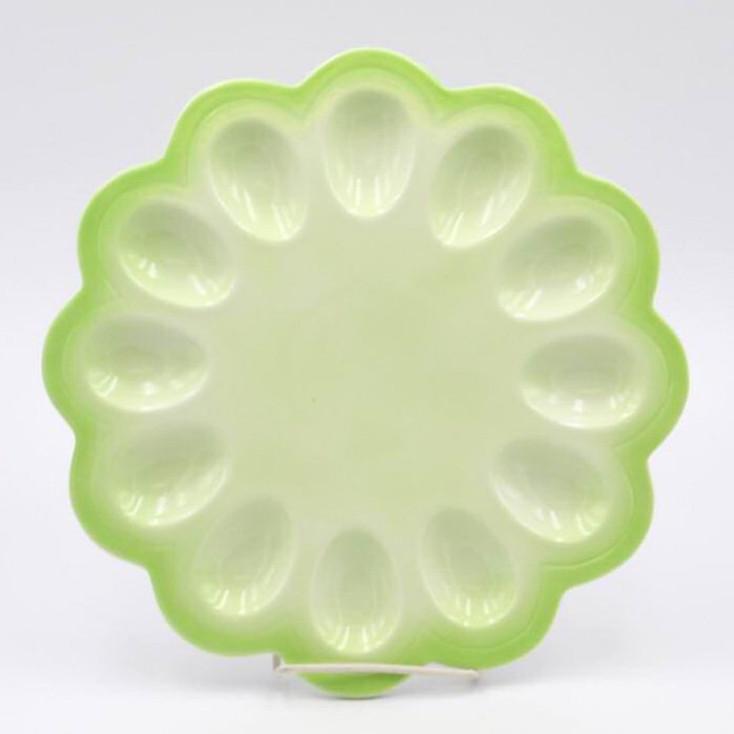 Large Green Egg Porcelain Serving Platter