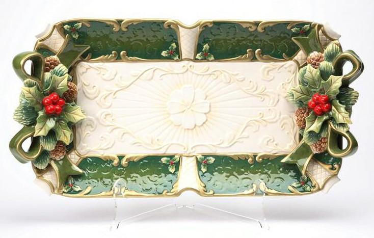 Holly Porcelain Serving Platter