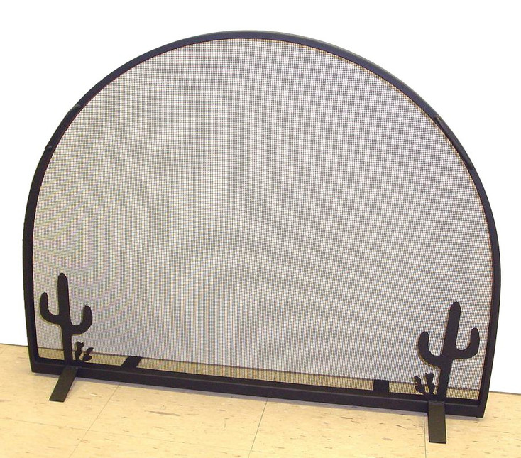 Western Flat Fireplace Screen with Arched Top, 66 Designs