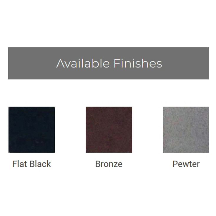 Table of Ironcraft Fireplace Finishes
