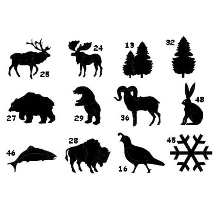 Chart of Ironcraft Wildlife Designs