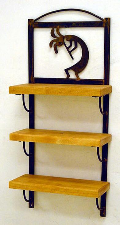 Choice Western Three Tier Wood Wall Shelf, 66 Designs