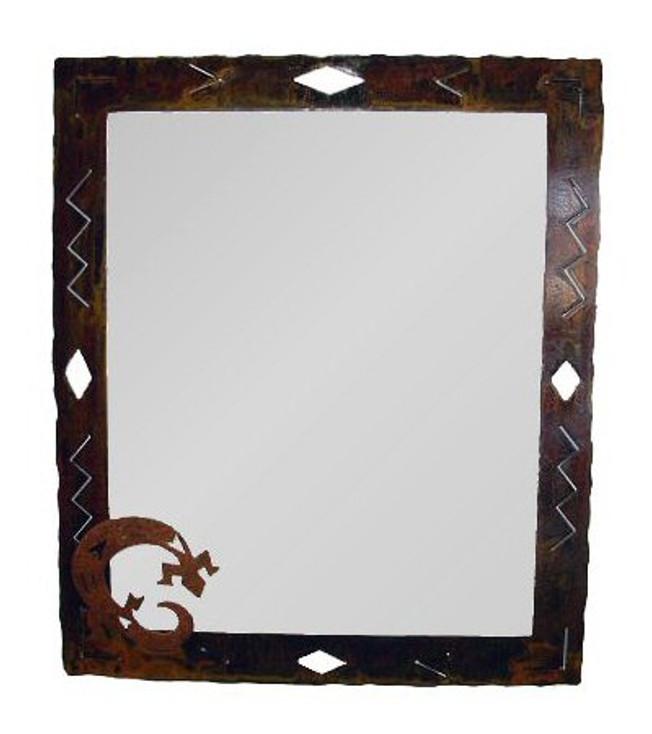 Large Choice Southwest Diamond Metal Wall Mirror, 66 Designs