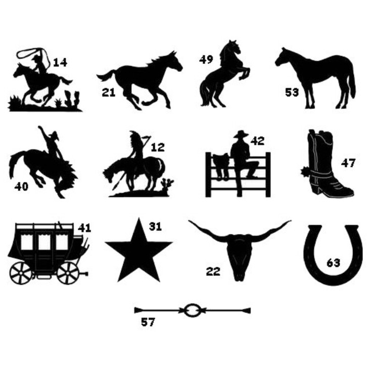 Chart of Ironcraft Western Designs