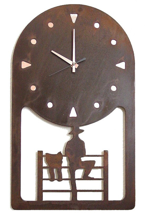 Choice Western Metal Wall Clock, 66 Designs