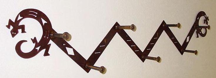 Choice Southwest Staggered 7 Hook Metal Coat Rack, 66 Designs